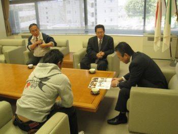 浜松市長に直接活動報告
